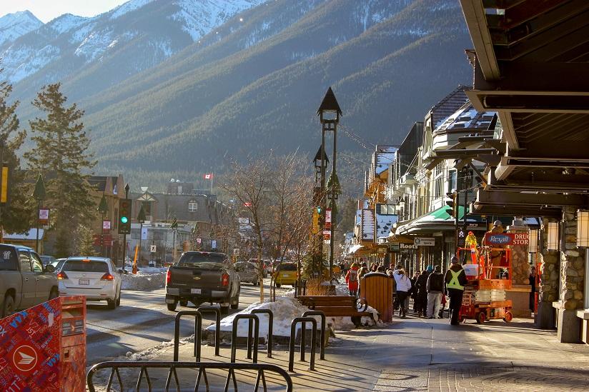 Main street in Banff