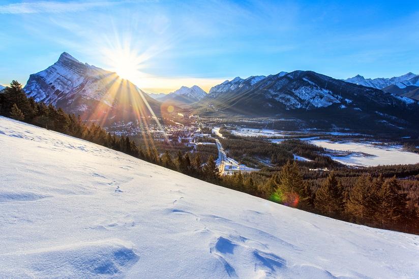 Sunrise over Banff Town