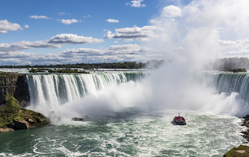 Working holiday Canada. Horseshoe Falls seen from the Canadian side of Niagara Falls