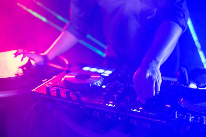 a dj in a night club