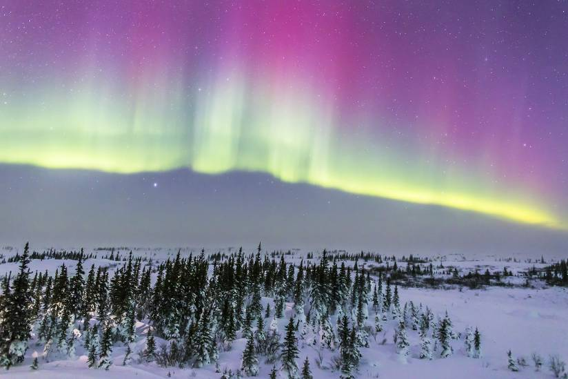 Aurora borealis from Churchill, Manitoba, Canada