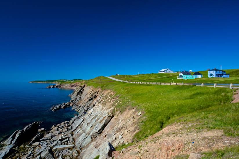 A view along the famous Cabot Trail near Cheticamp, Nova Scotia.