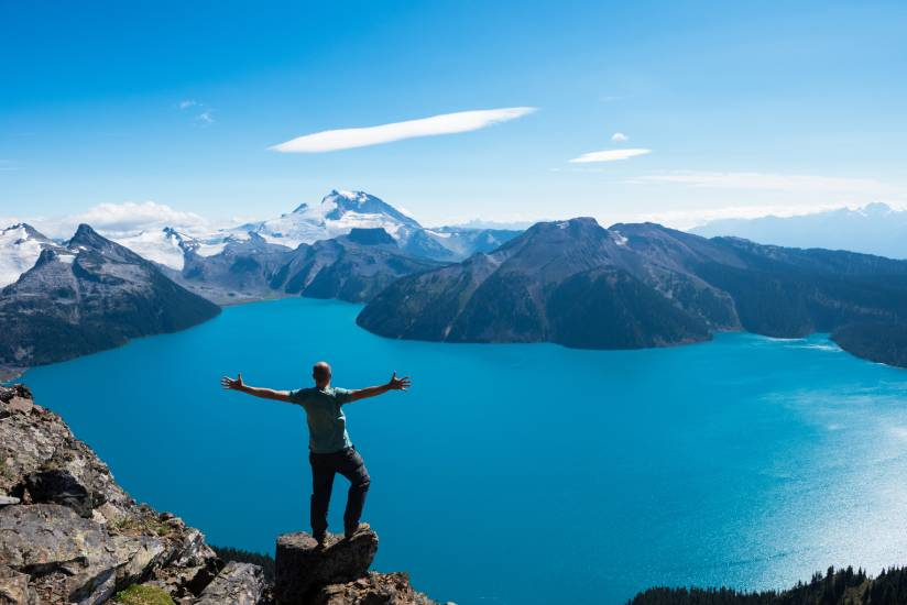 Hiker in Whistler, Canada