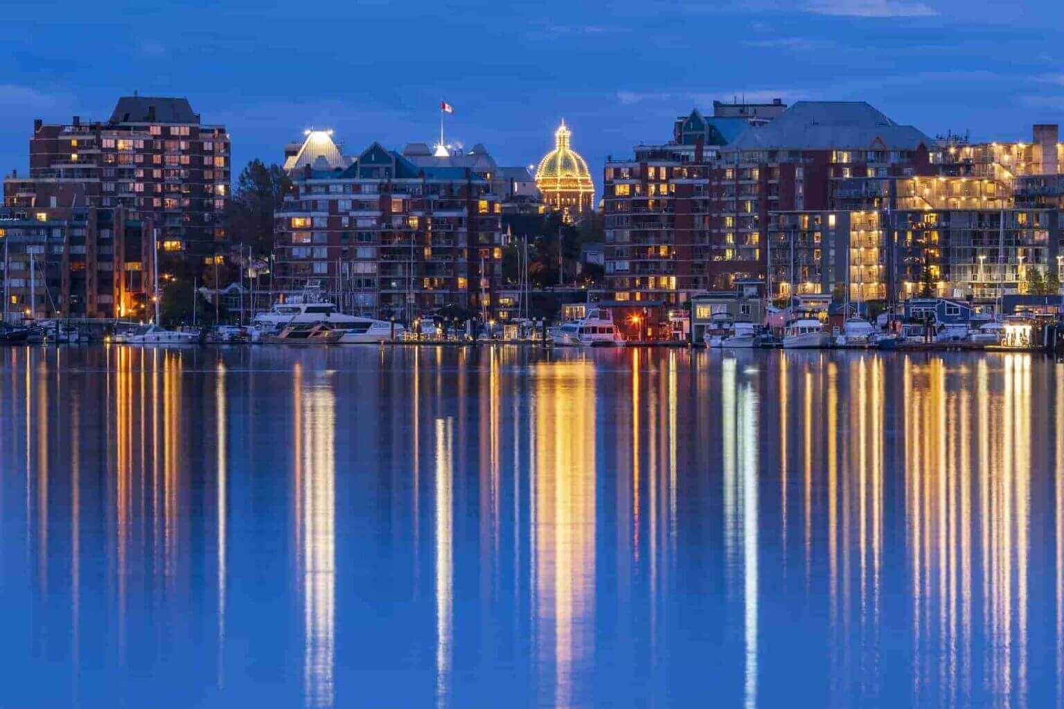 Victoria, BC, Skyline at night