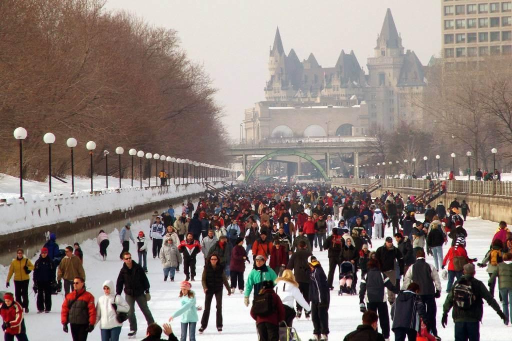 people skating in Ottawa, Canada