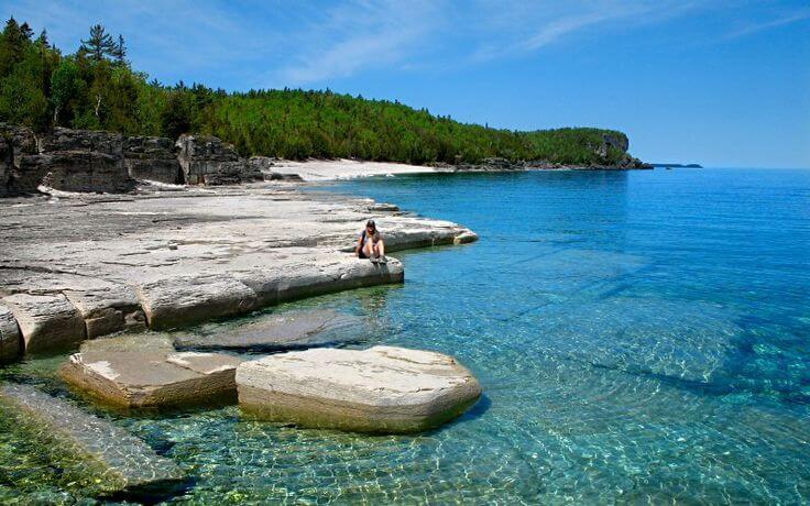 Bruce Peninsula National Park In Canada