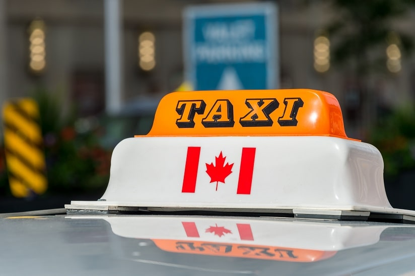Working holiday in Canada - taxi