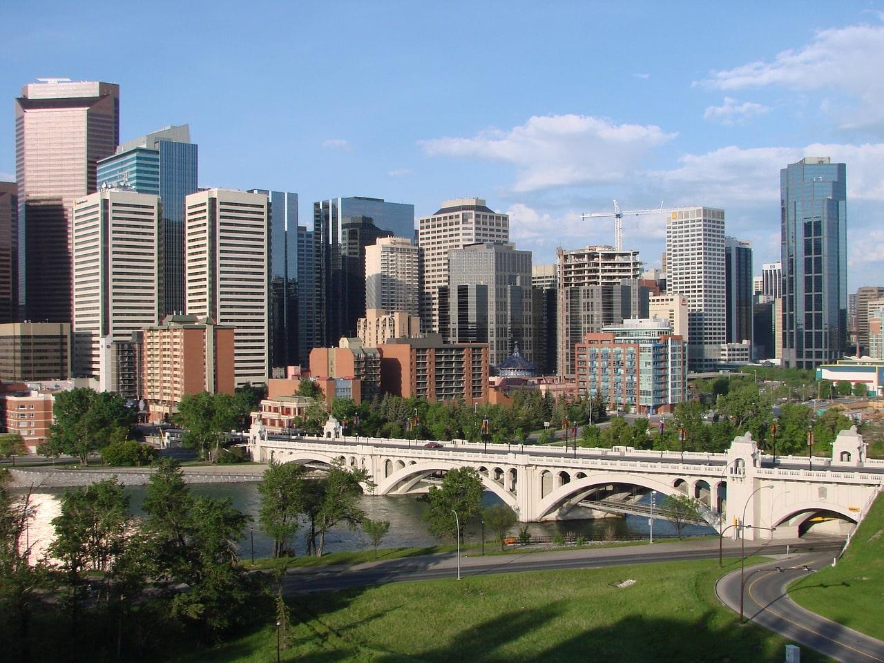 Calgary City in Canada