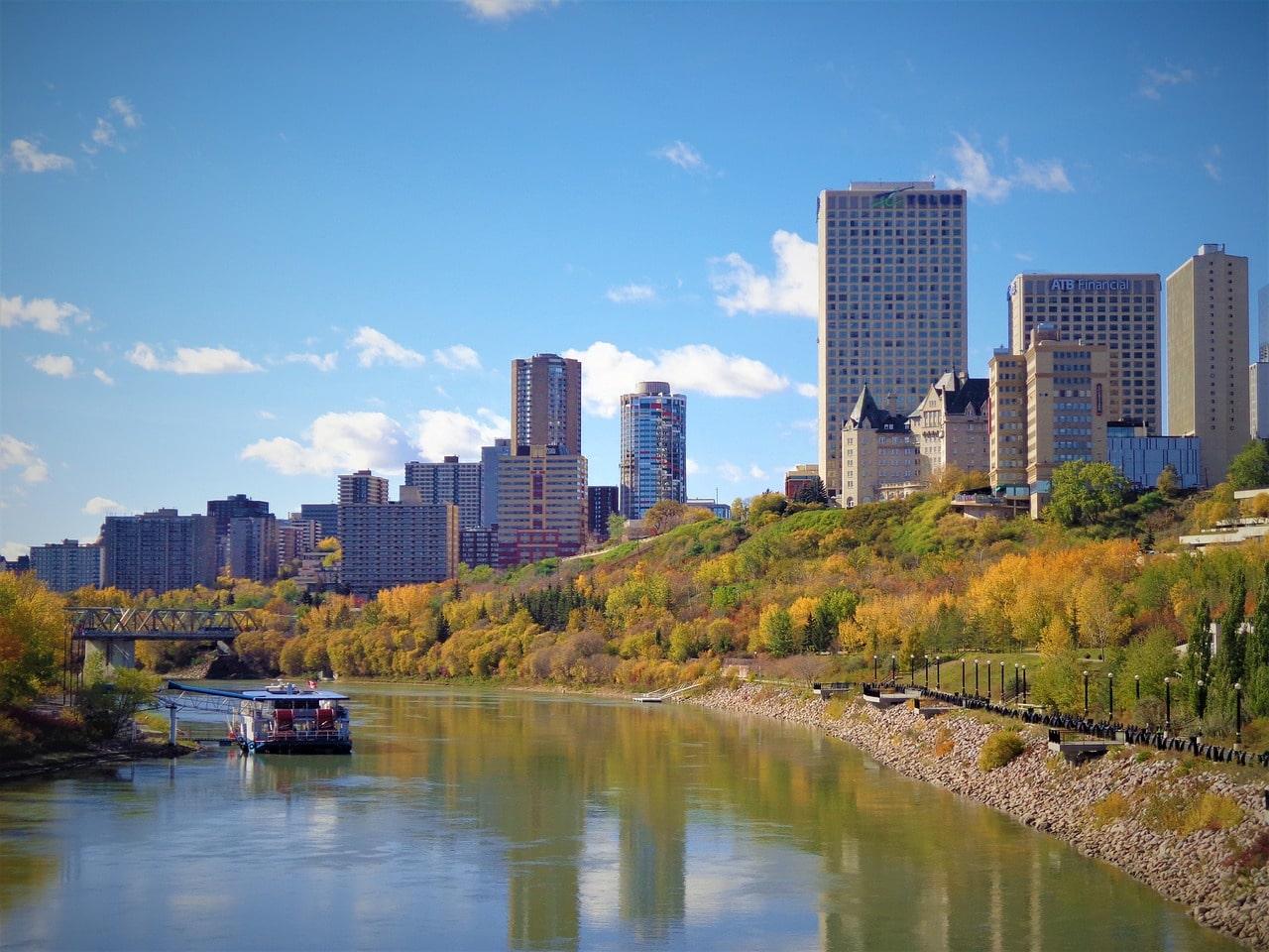 Edmonton in Canada cityscape