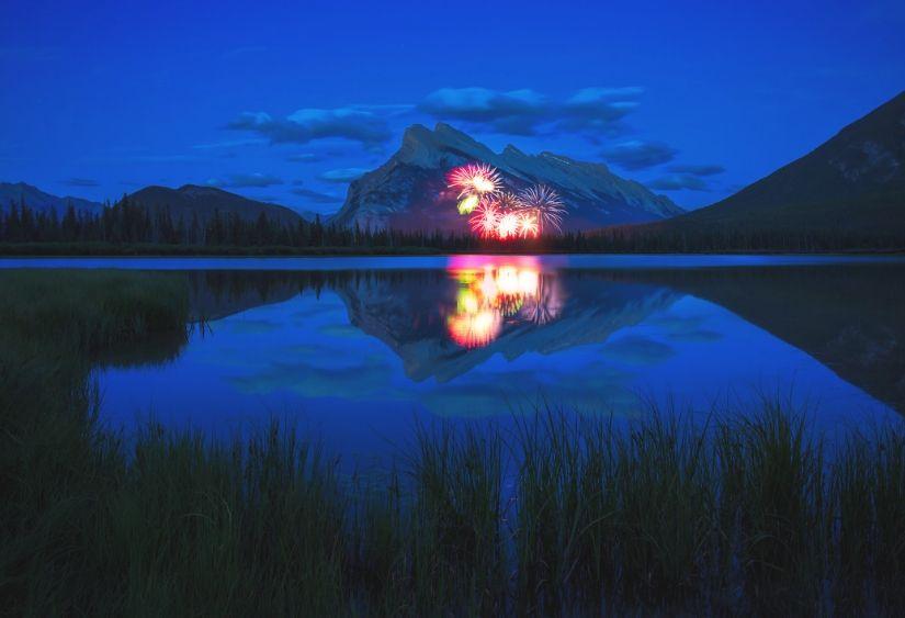 Night in Banff, Canada