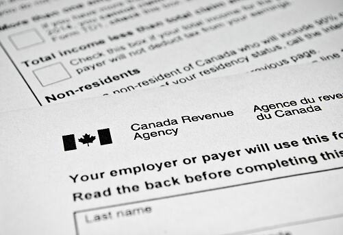 tax form used in Canada