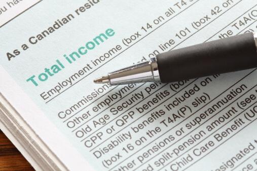 tax return form in Canada