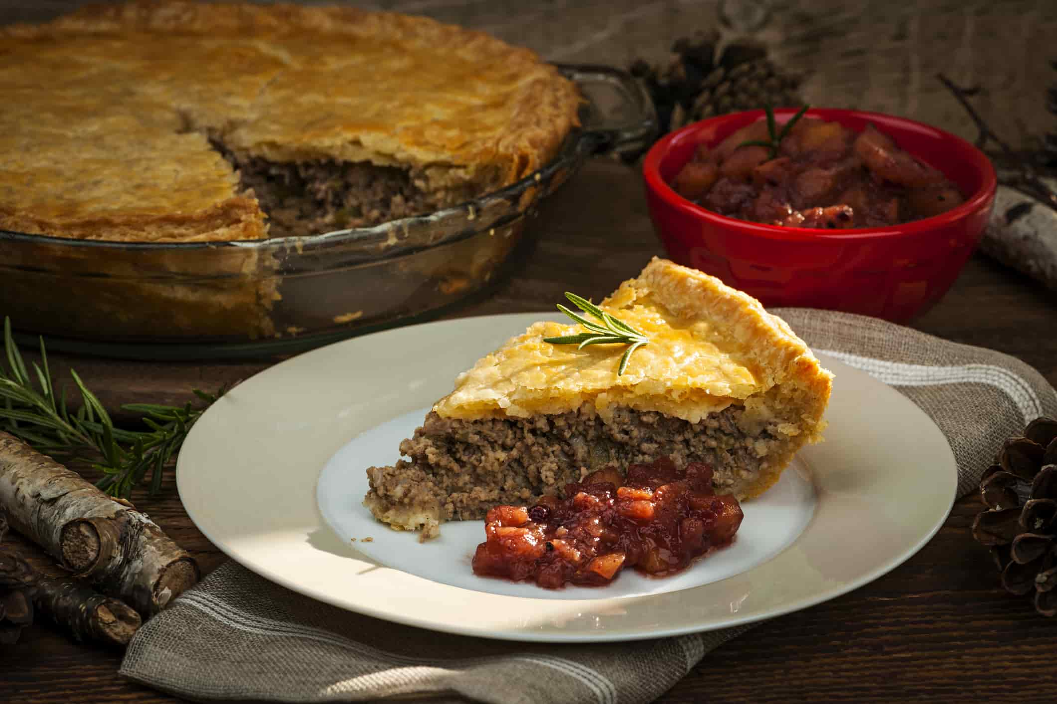 Traditional Canadian Cuisine Tourtière
