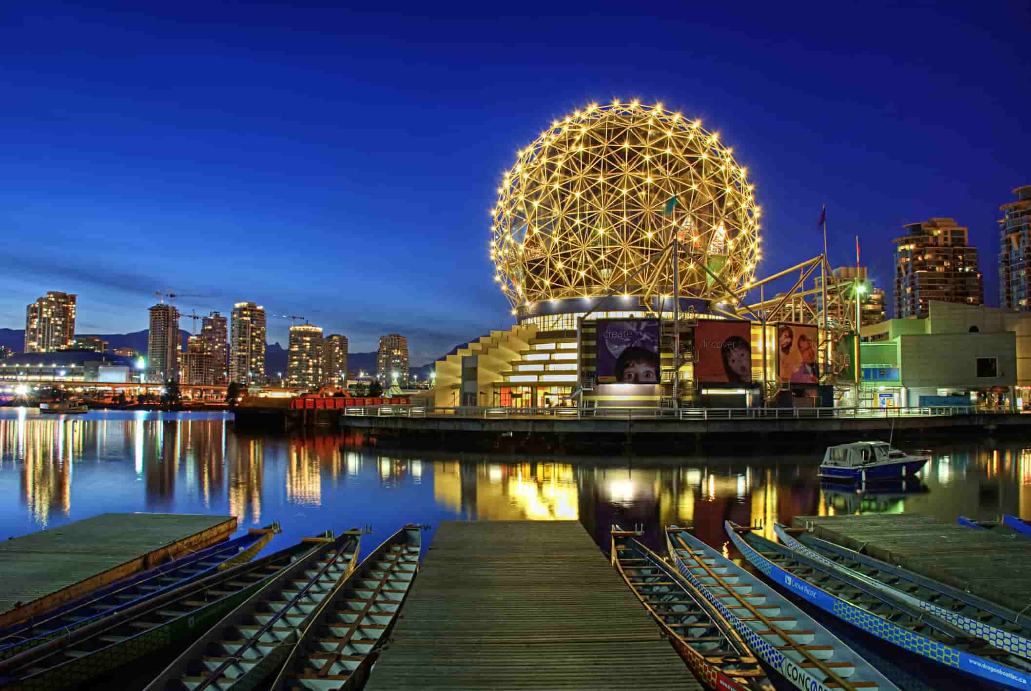 Vancouver, Canada at night