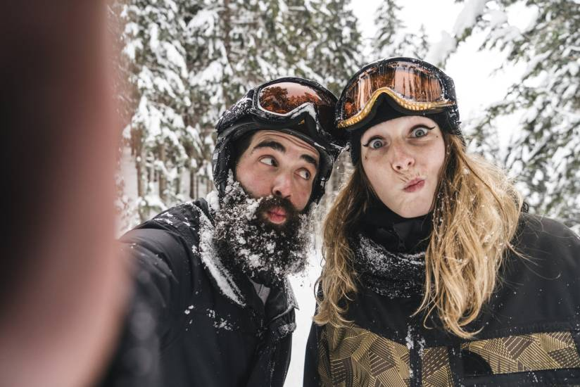 A couple in Whistler