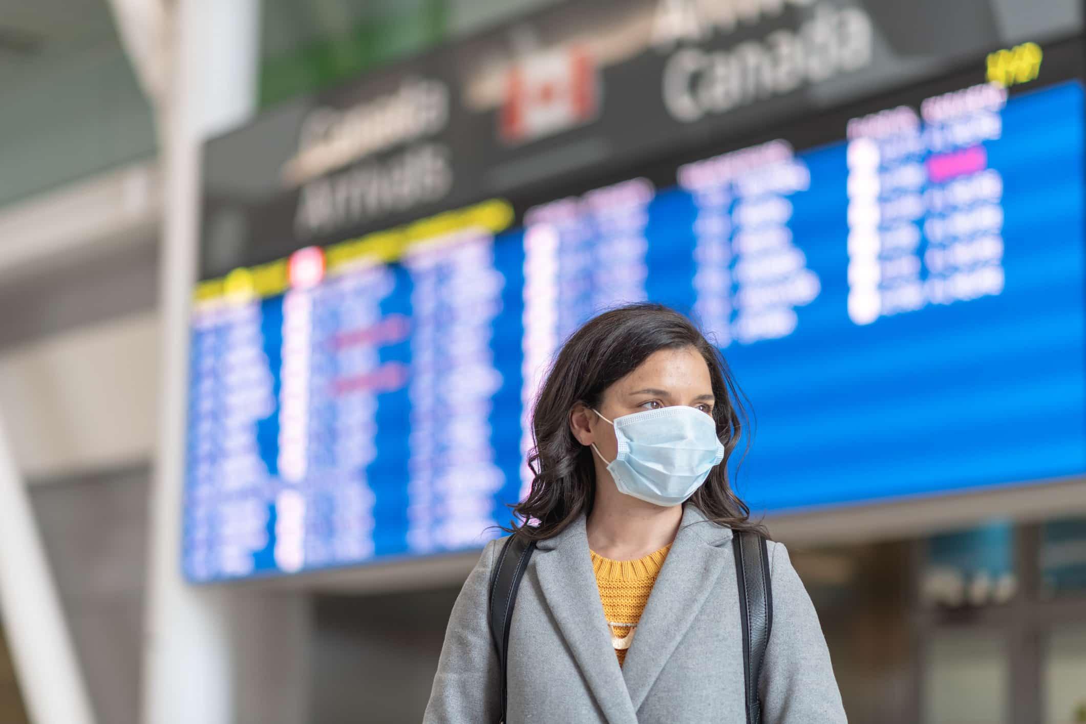 traveller at an airport
