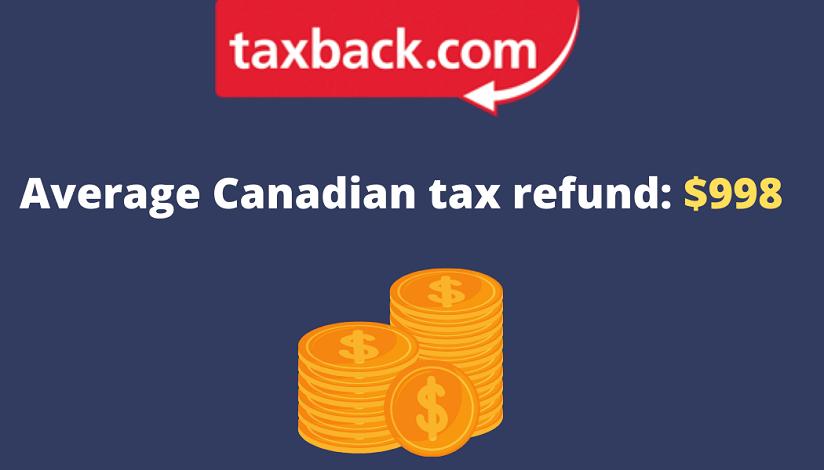 Taxback.com average Canadian tax refund