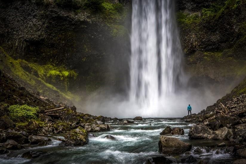 Canadian waterfall landscape