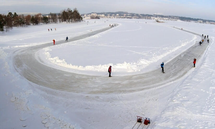 people skating in Canada