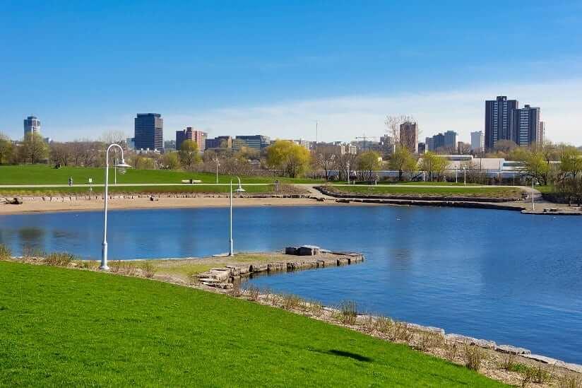 Bayfront Park in Hamilton, Ontario